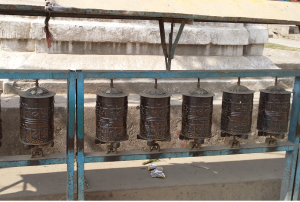 Prayer wheels. Remember to spin them clockwise.