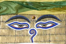 Buddha Eyes are a very common sight in Nepal. They are on everything from temples to T-shirts. Deadheads might call them 'Eyes of the World'