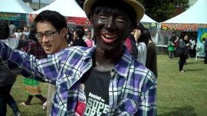 Blackface is still common in Korea. Mainstream medias still portray blackface for entertainment.